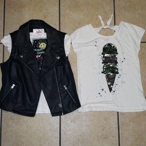 Girls Justice shirt bundle - size 8
